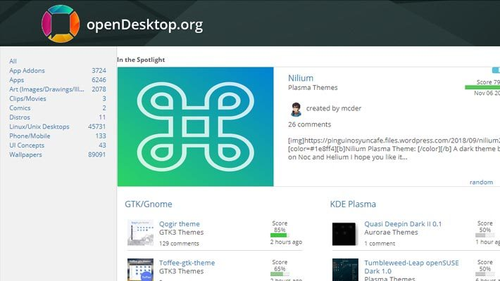 OpenDesktop – the best place for all your Linux Desktop